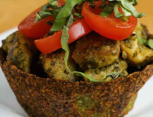 Pesto Chicken Low-carb Broccoli Parmesan Cups