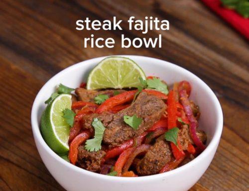 Sheet Tray Fajitas Rice Bowl